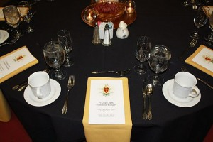 Centennial Banquet Table Setting